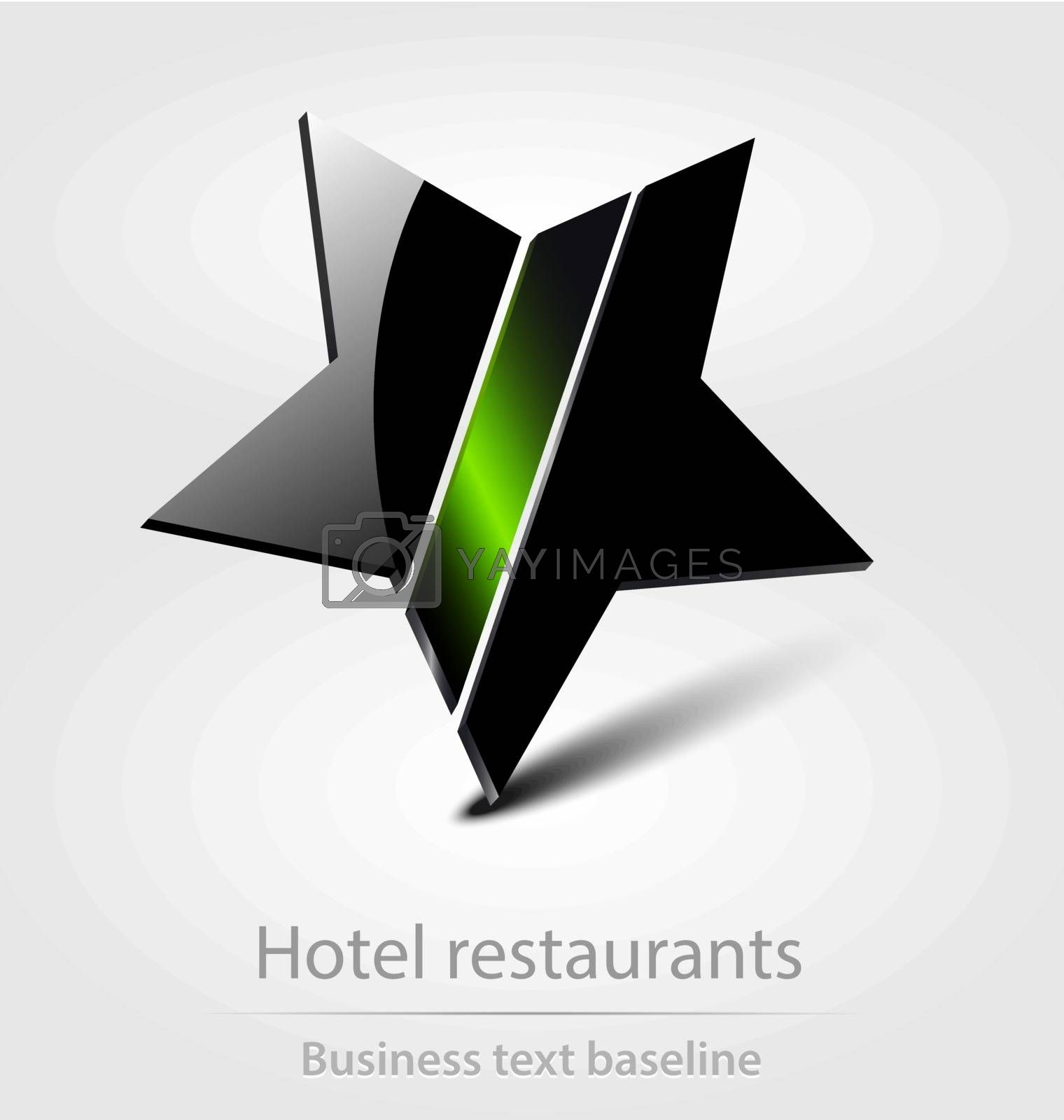 Hotel restaurants business icon for creative design
