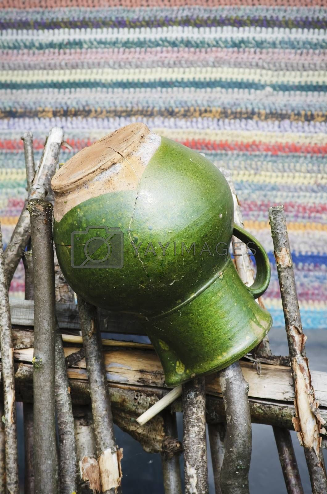 Photo of The Vintage Green Green Crock for Milk