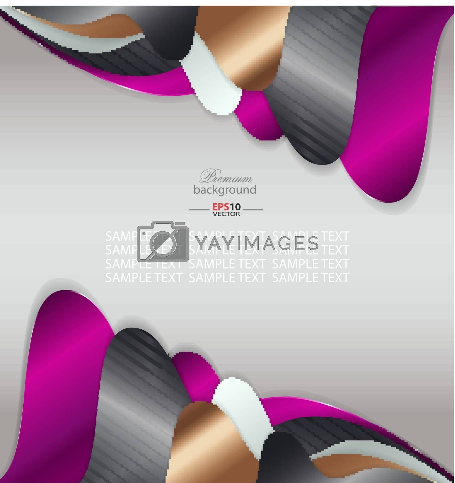 Abstract background with metal ornament for creative design