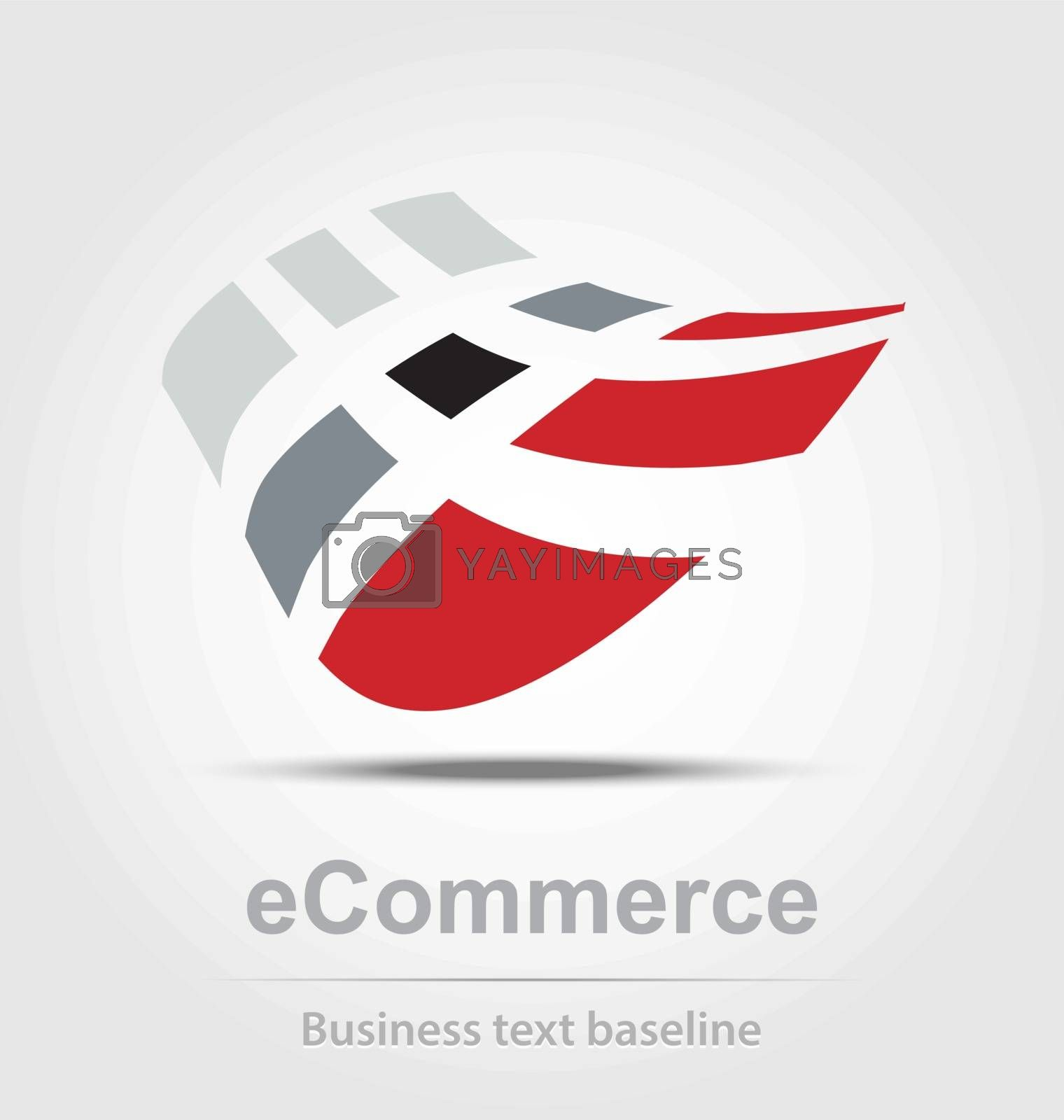 Ecommerce busines icon for creative design