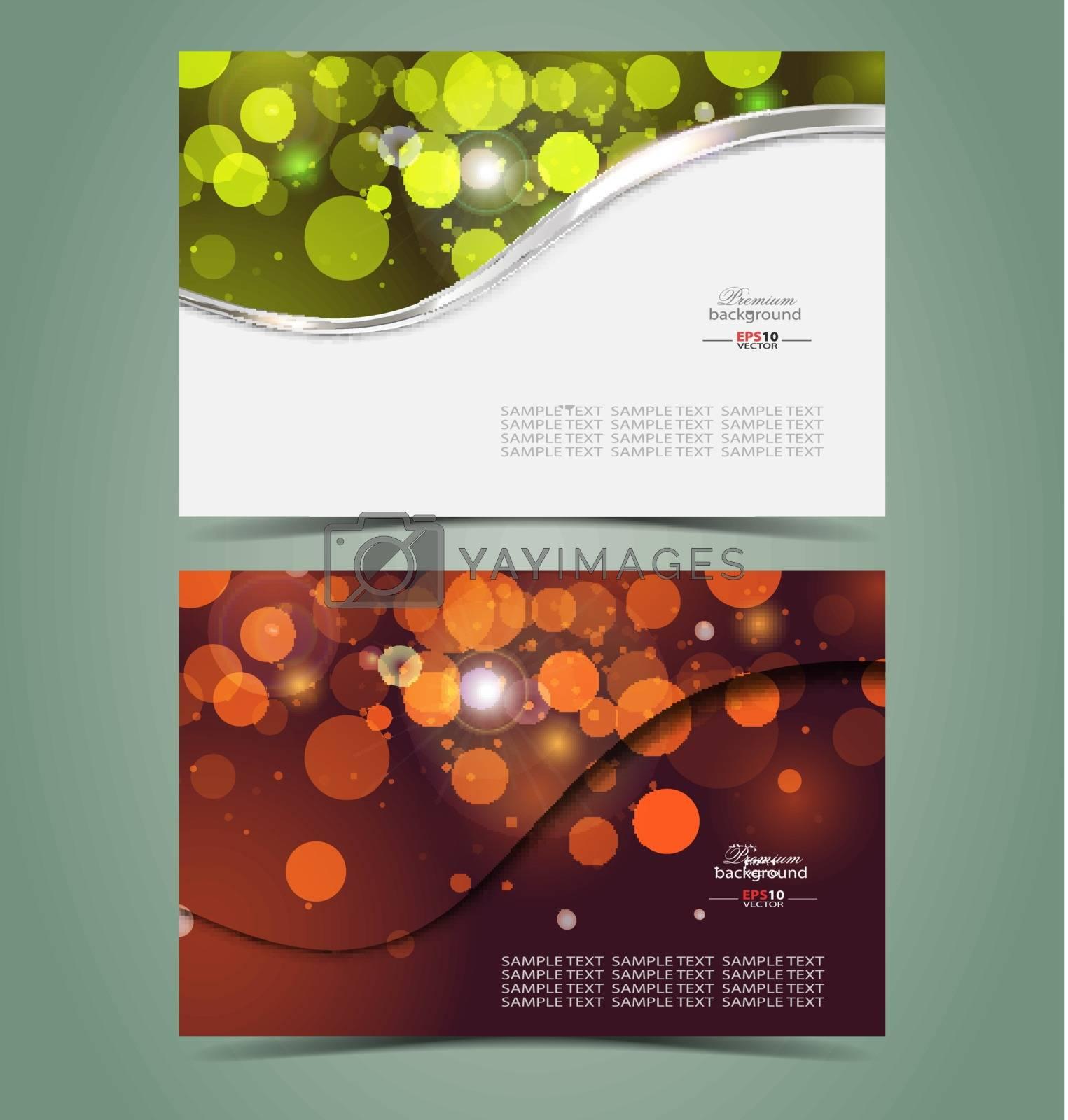 Elegant business card design template for creative needs