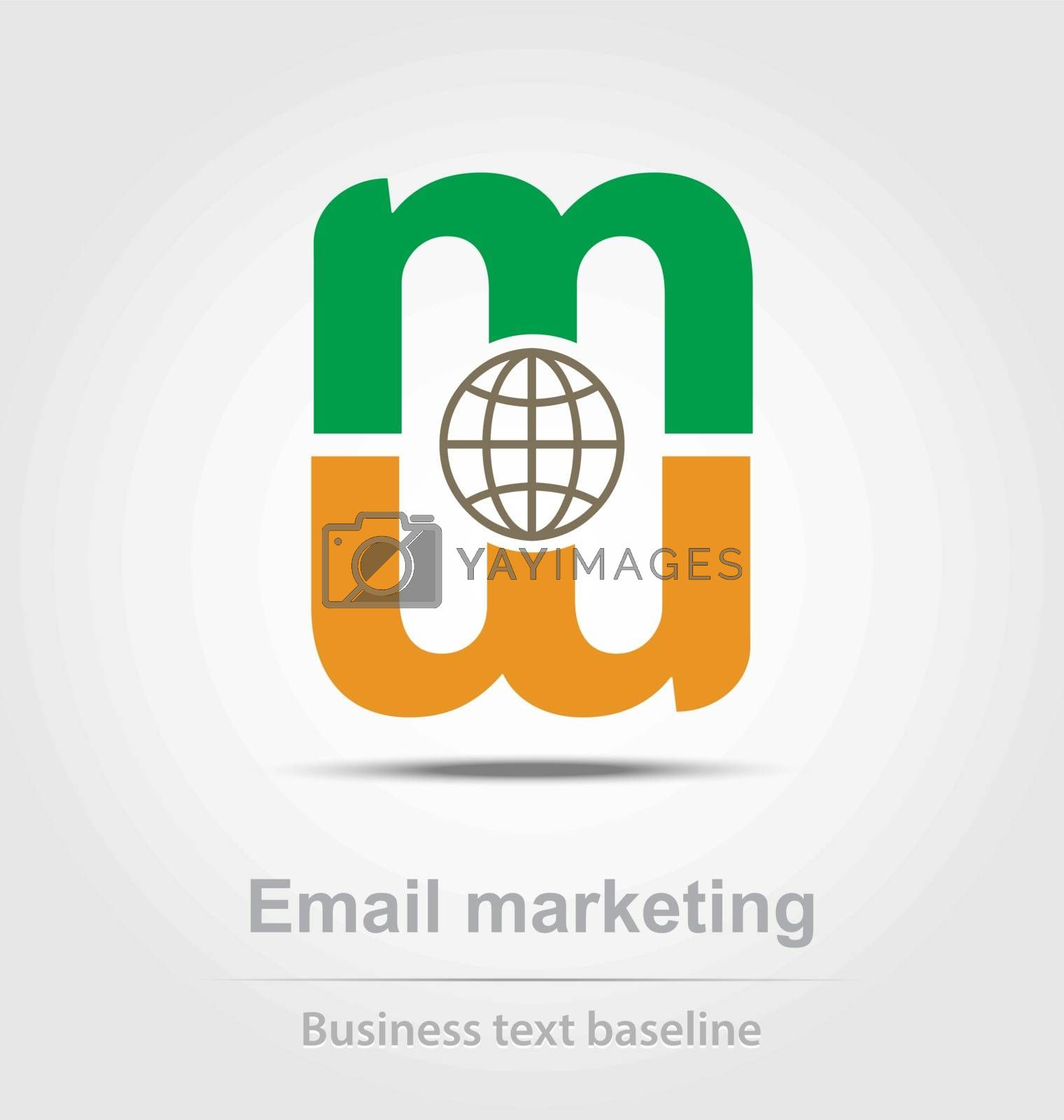 Email marketing business icon for creative design