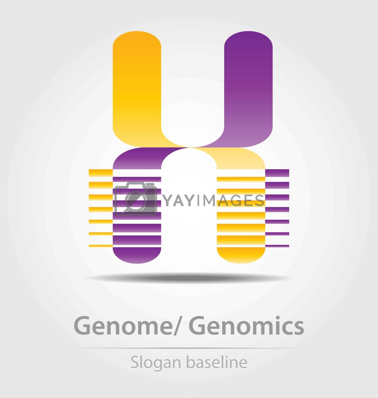 Genome analysis,genomics business icon for creative design