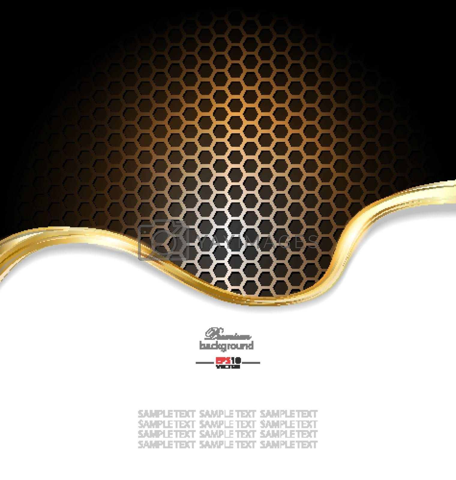 Abstract gold metallic background for creative design needs