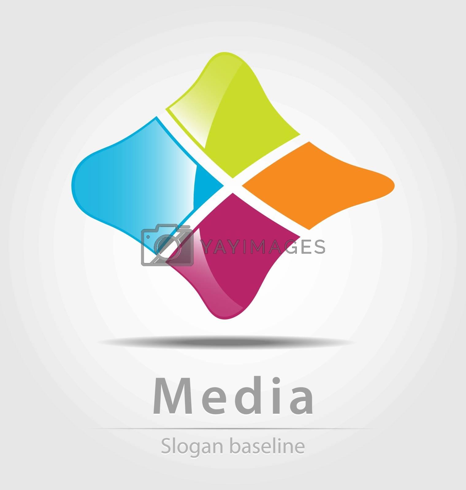 Originally created vector business icon