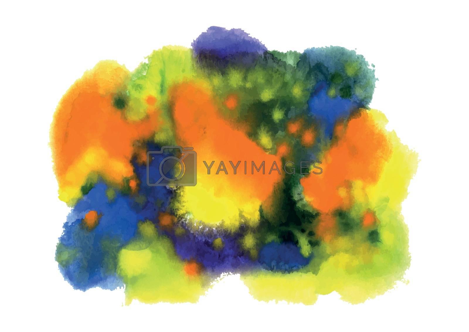 Bright abstract color blots. Vector.