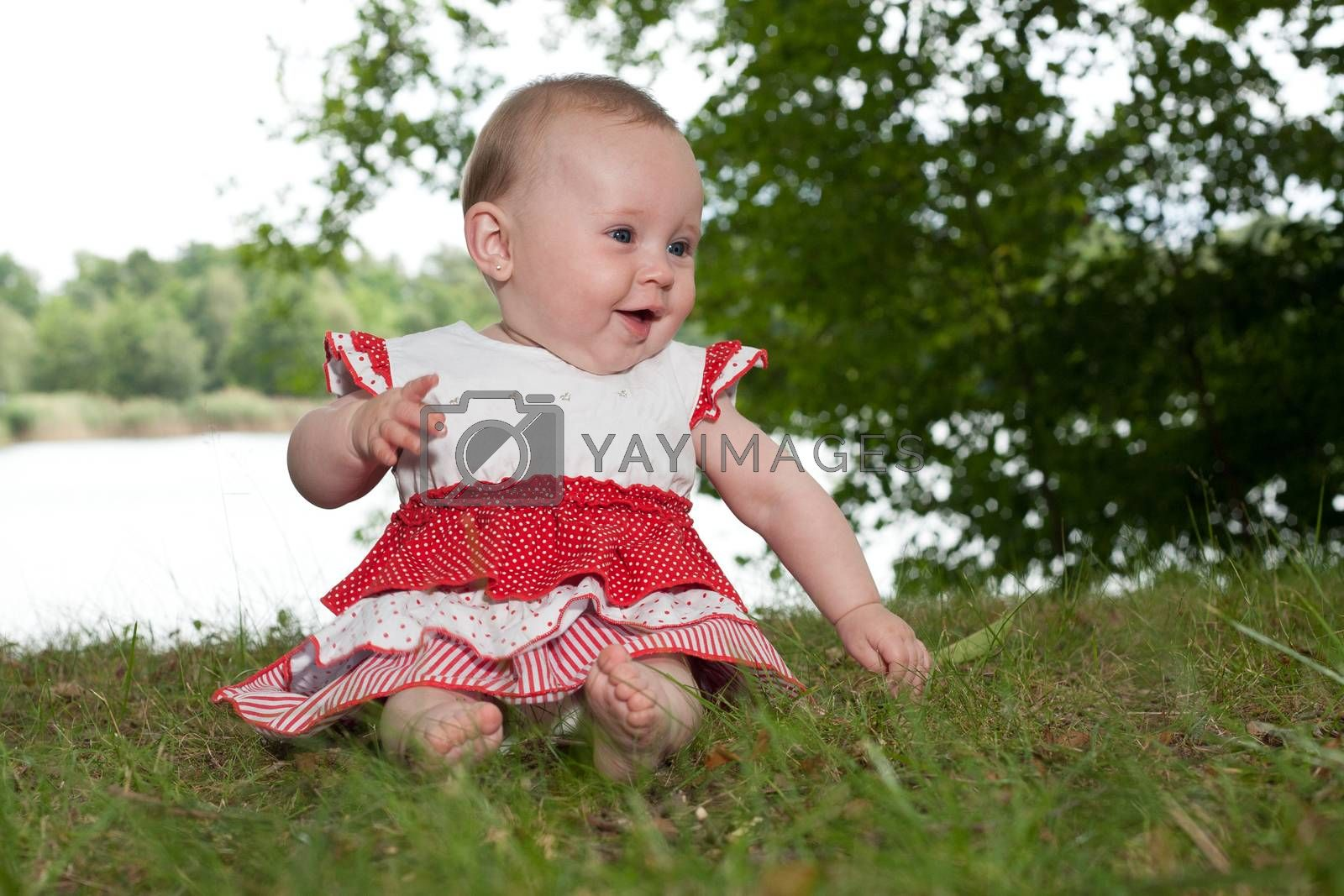 Happy baby in anture by DNFStyle