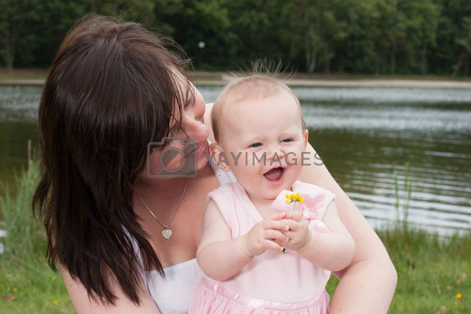 Mother baby and the flower by DNFStyle