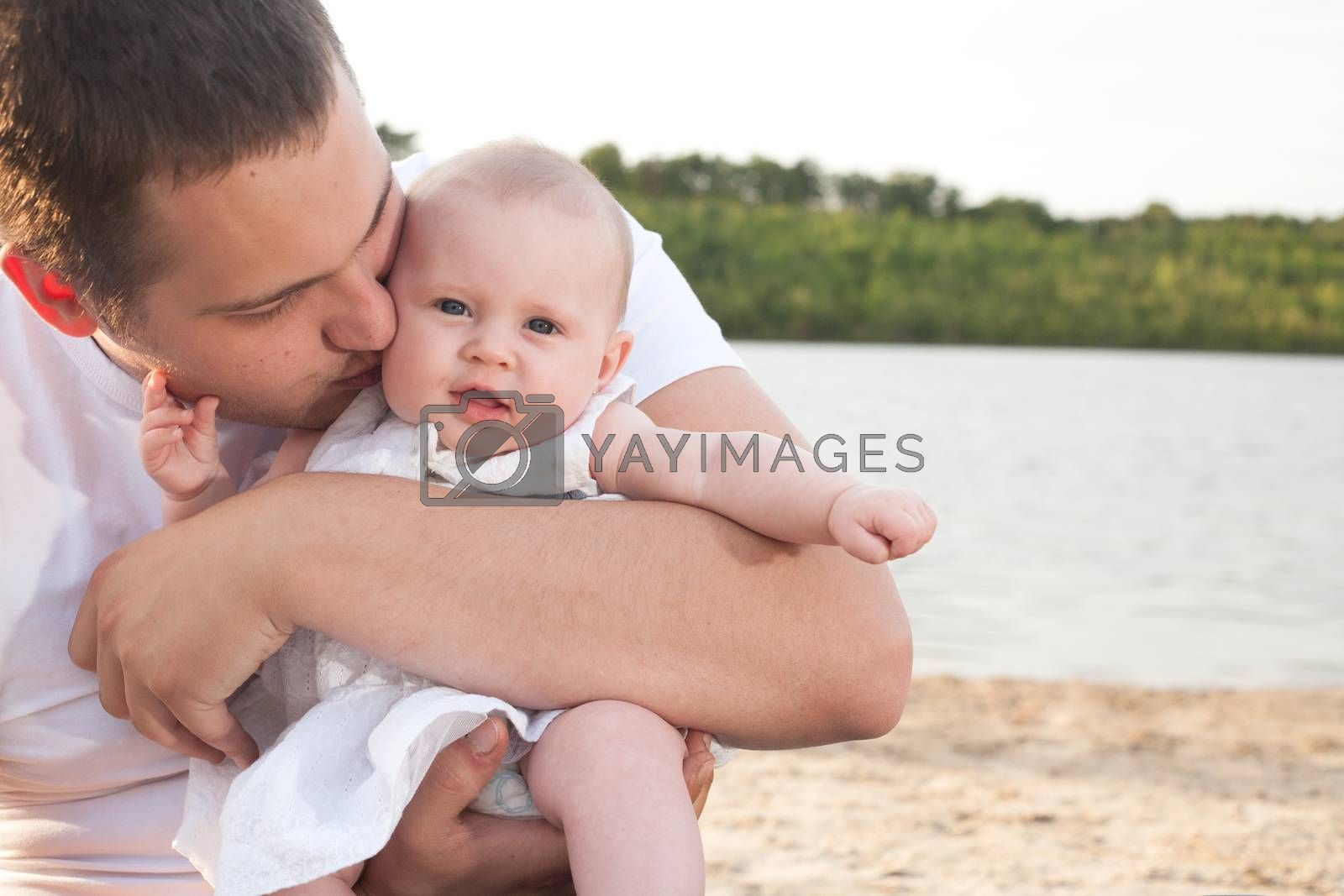 Dad and his little girl by DNFStyle