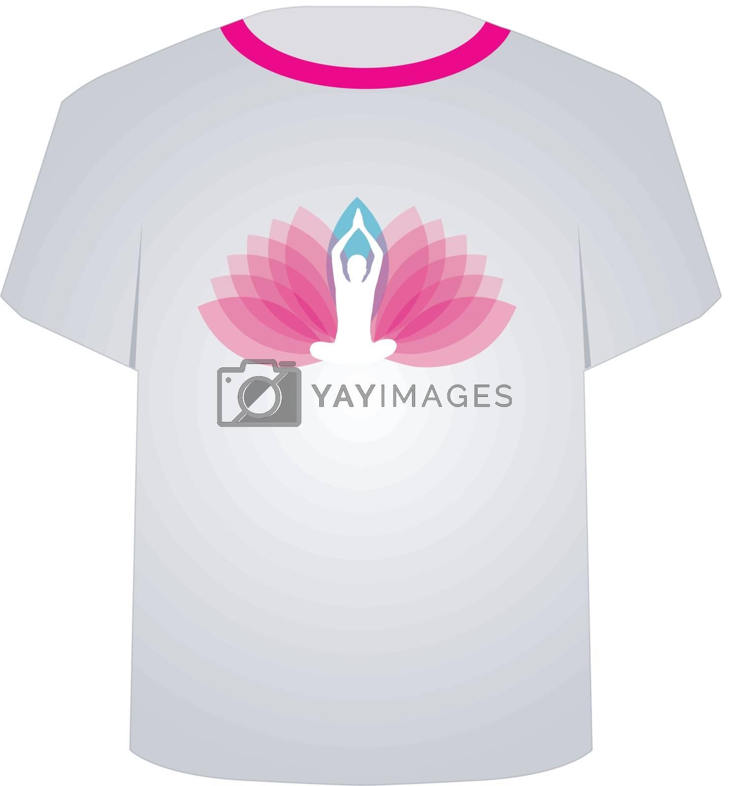 Yoga lover's Tshirt graphic