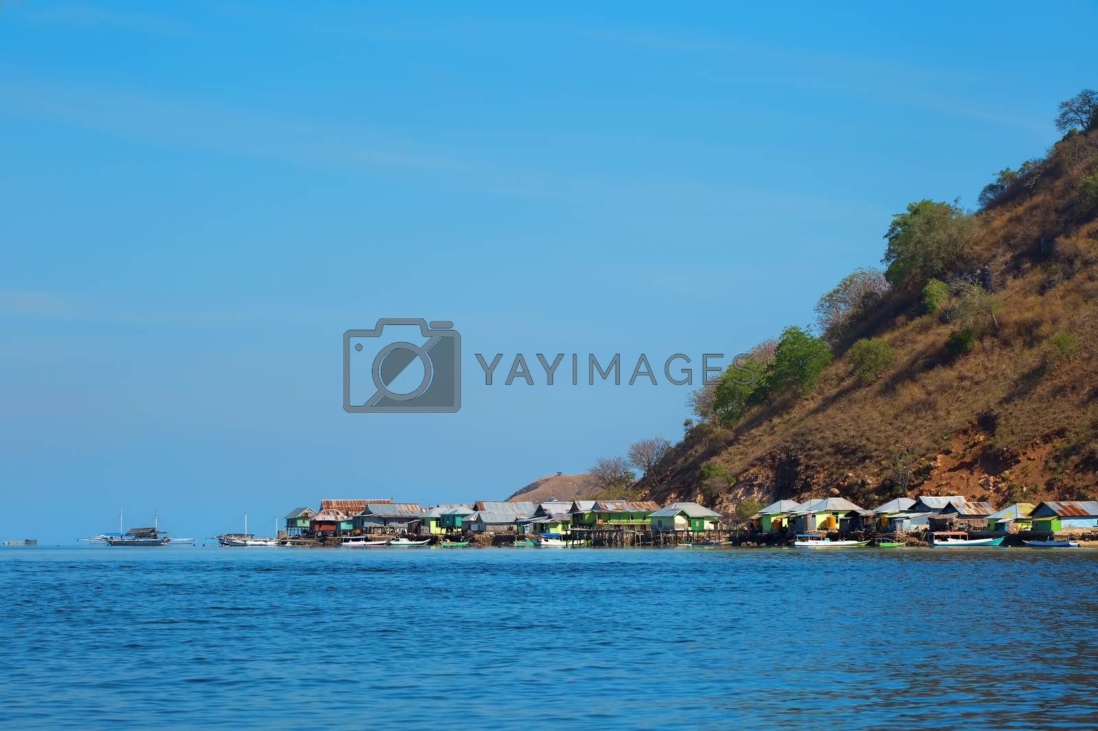 Island village life in Komodo national park