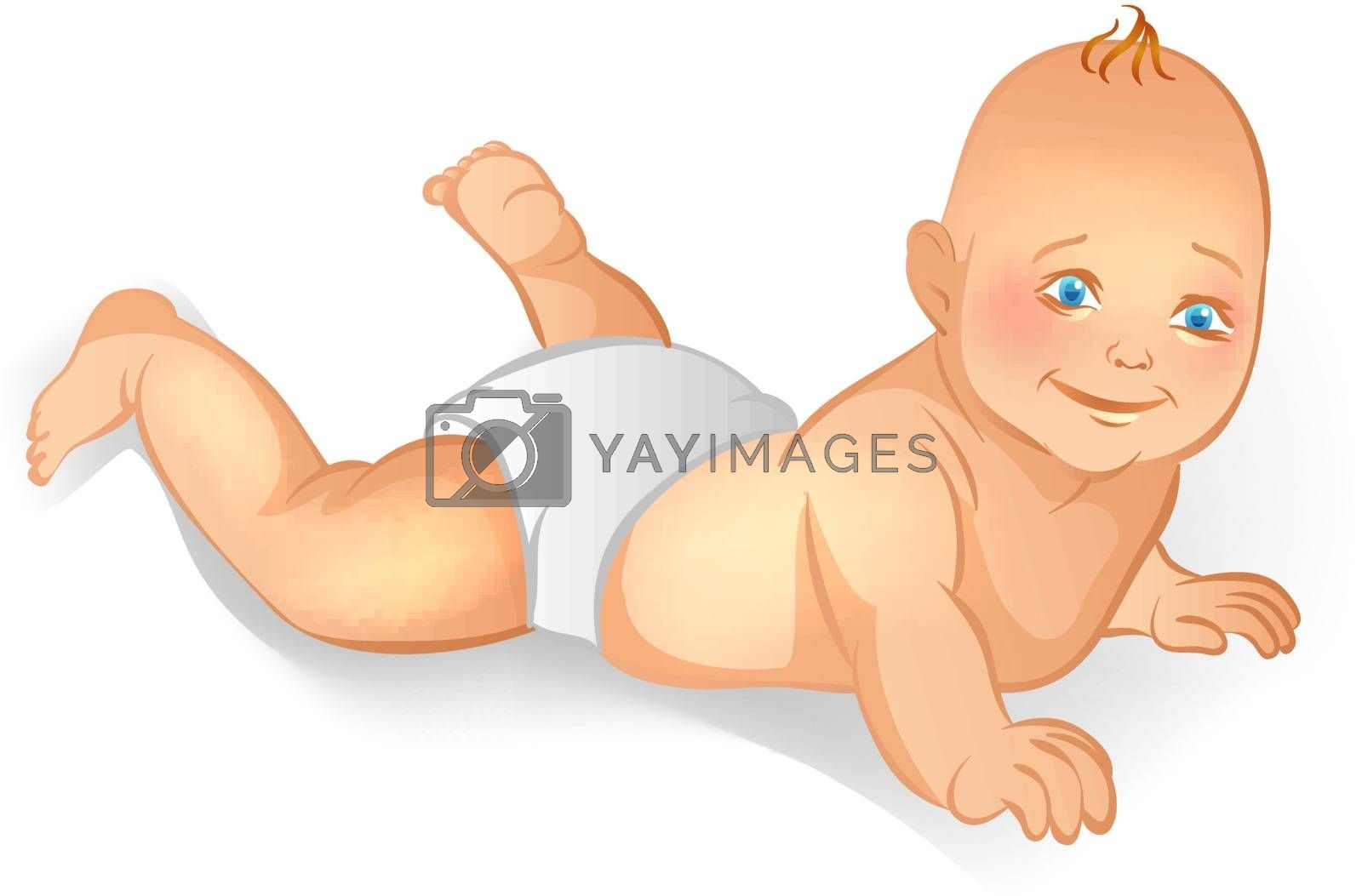 Vector illustration (eps 10) of Baby
