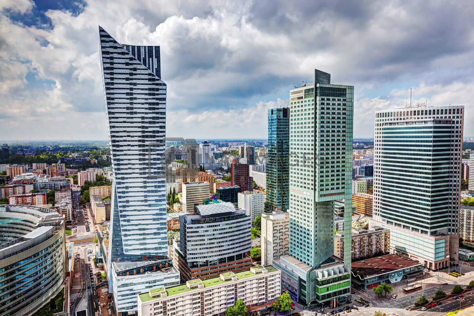 Royalty free image of Warsaw, Poland. Downtown business skyscrapers, city center by photocreo