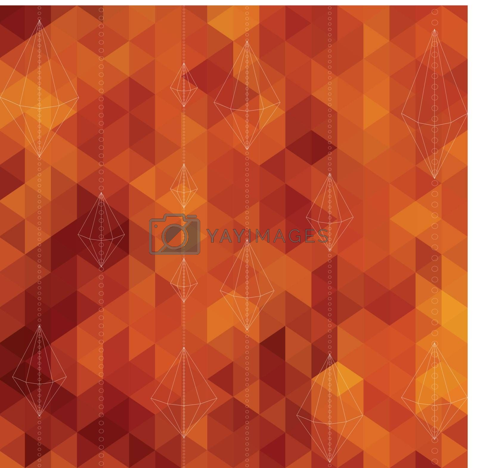 Abstract Triangle Geometrical Multicolored Background, Vector Illustration EPS10