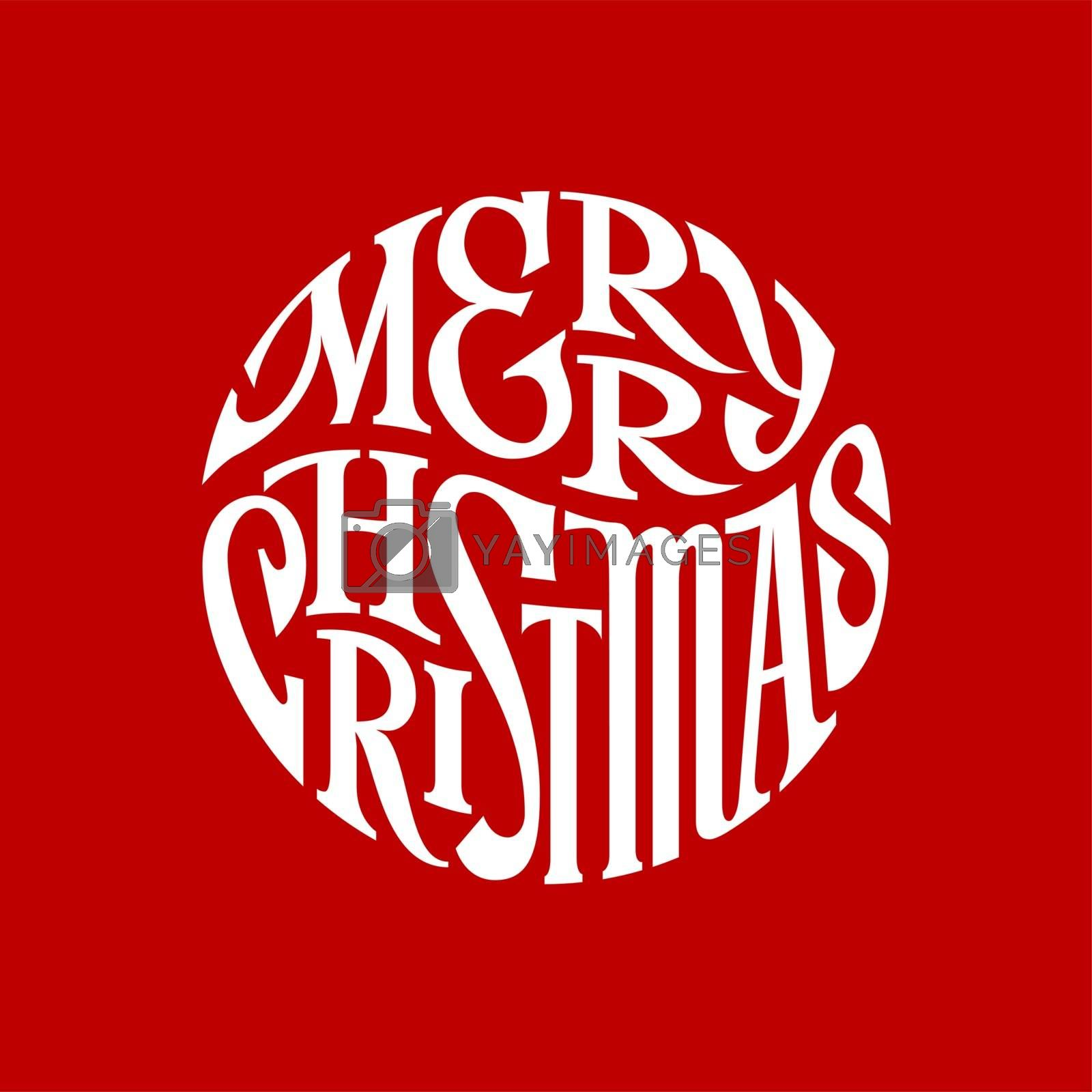 Hand drawn phrase Merry Christmas inscribed in a circle. Eps8 RGB Organized by layers Gradients free