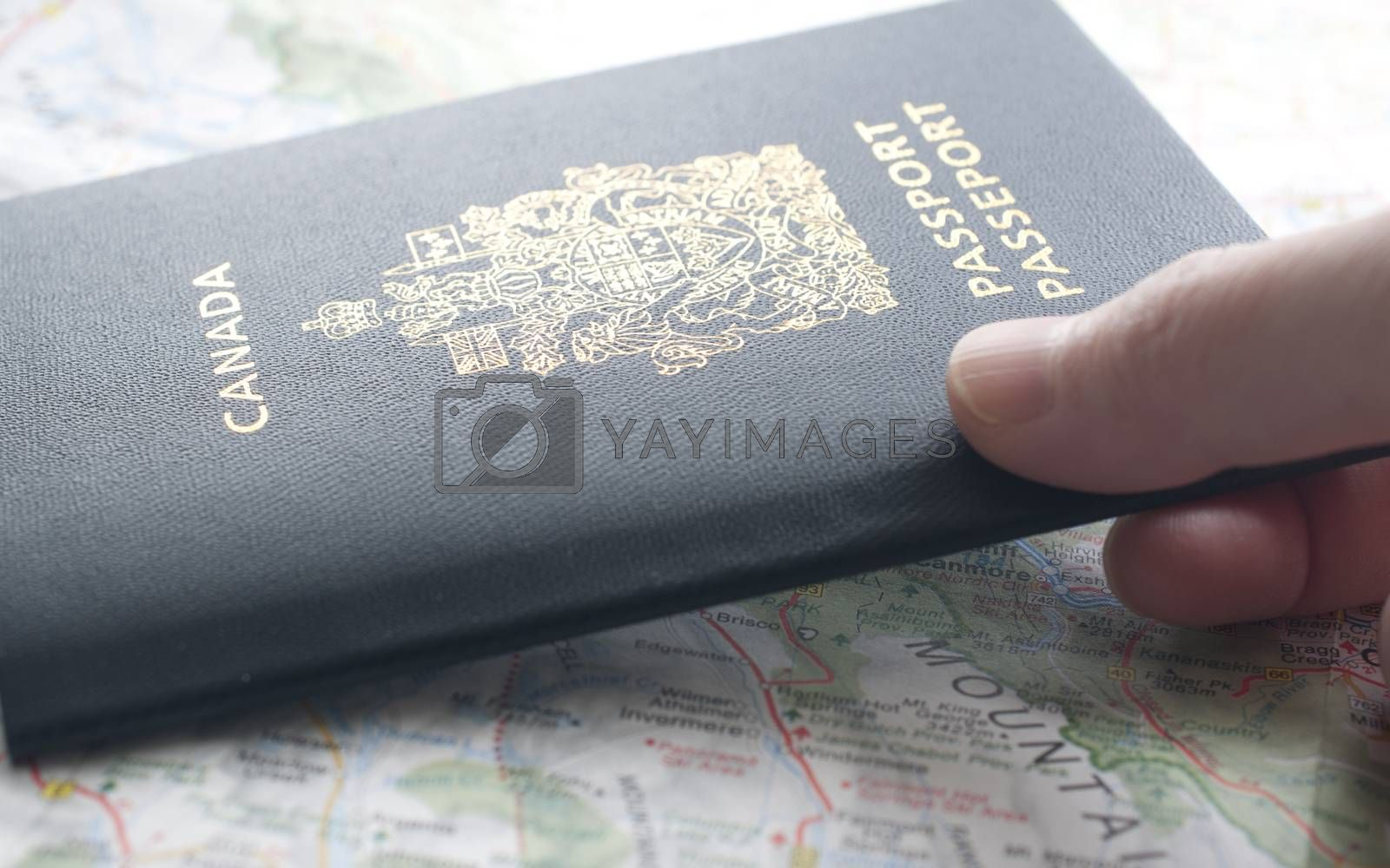People carrying passport and map ready to travel.
