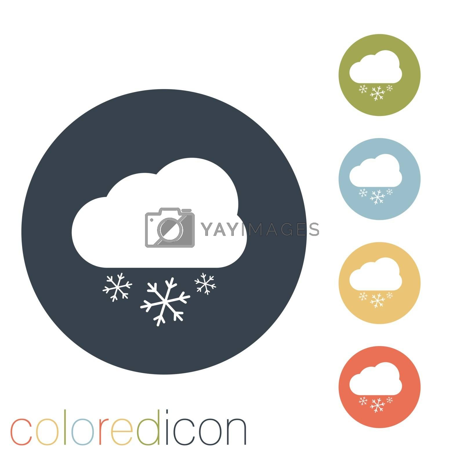 cloud snow icon. the weather icon