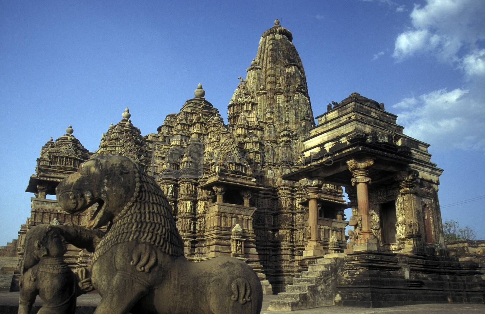 The Temple of Khajuraho in the province of Uttar Pradesh in India.