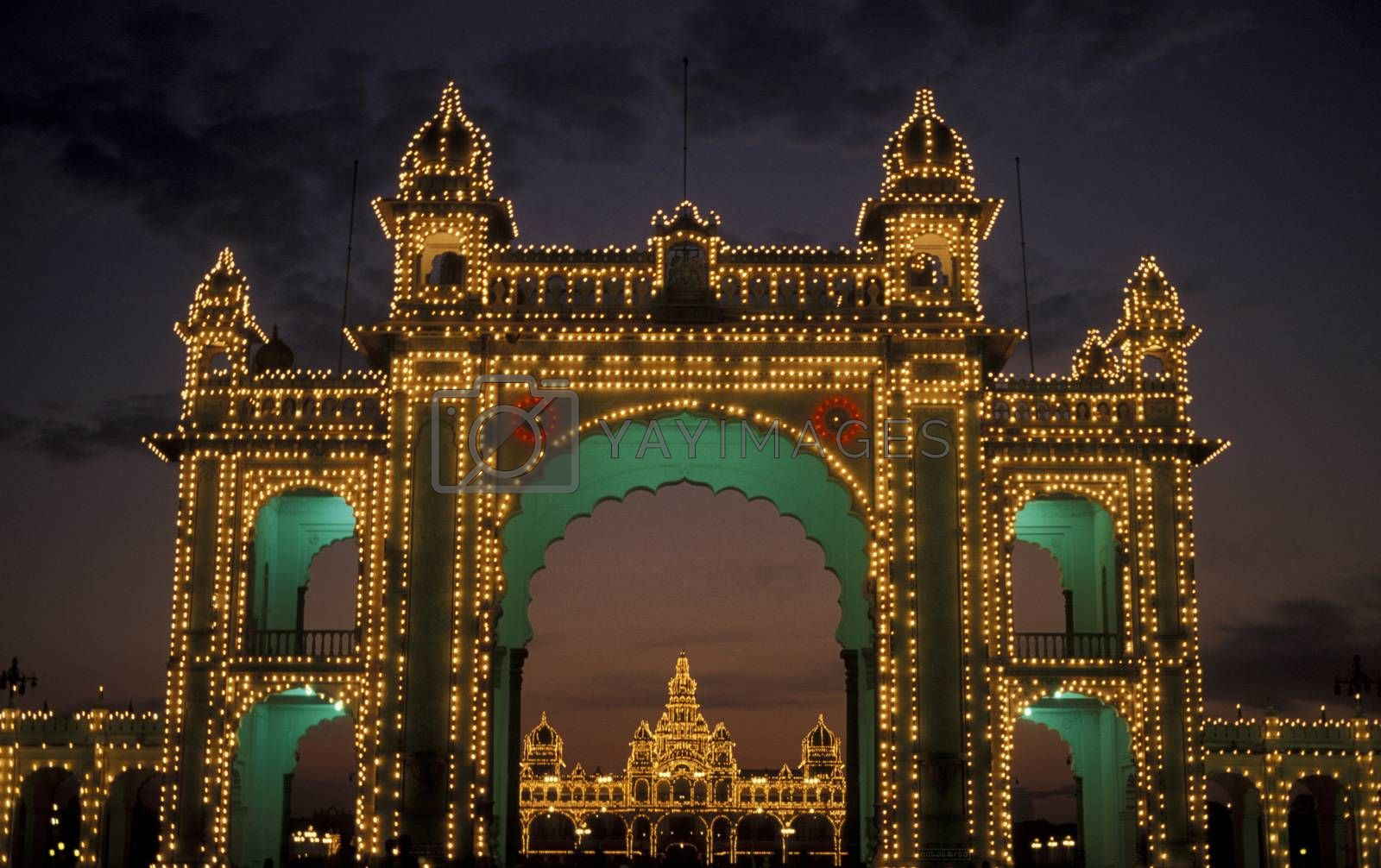 the Palace in the city of Mysore in the province of Karnataka in India.