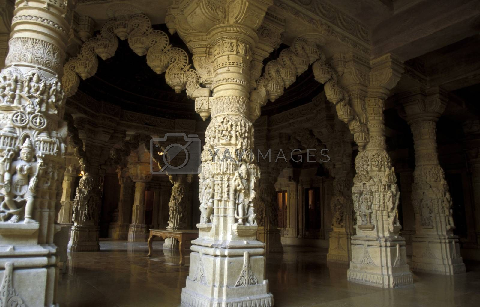 the inside of the Maharadja  Palace in the town of Jaisalmer in the province of Rajasthan in India.