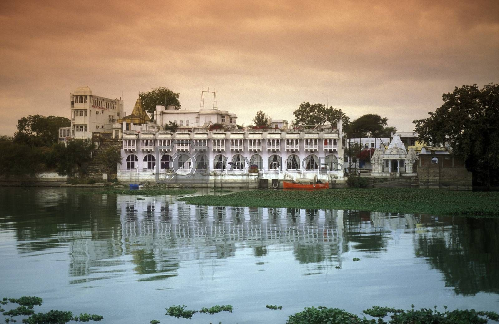 the Lake with the Palace in the town of  Udaipur in Rajasthan in India.