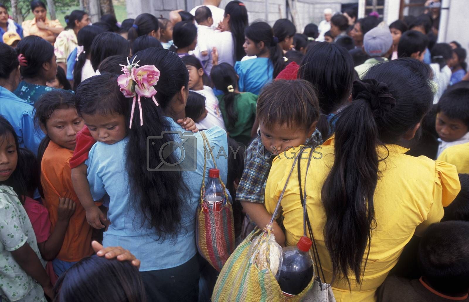 a christmas party in the old town of the city Copan in Honduras in Central America,