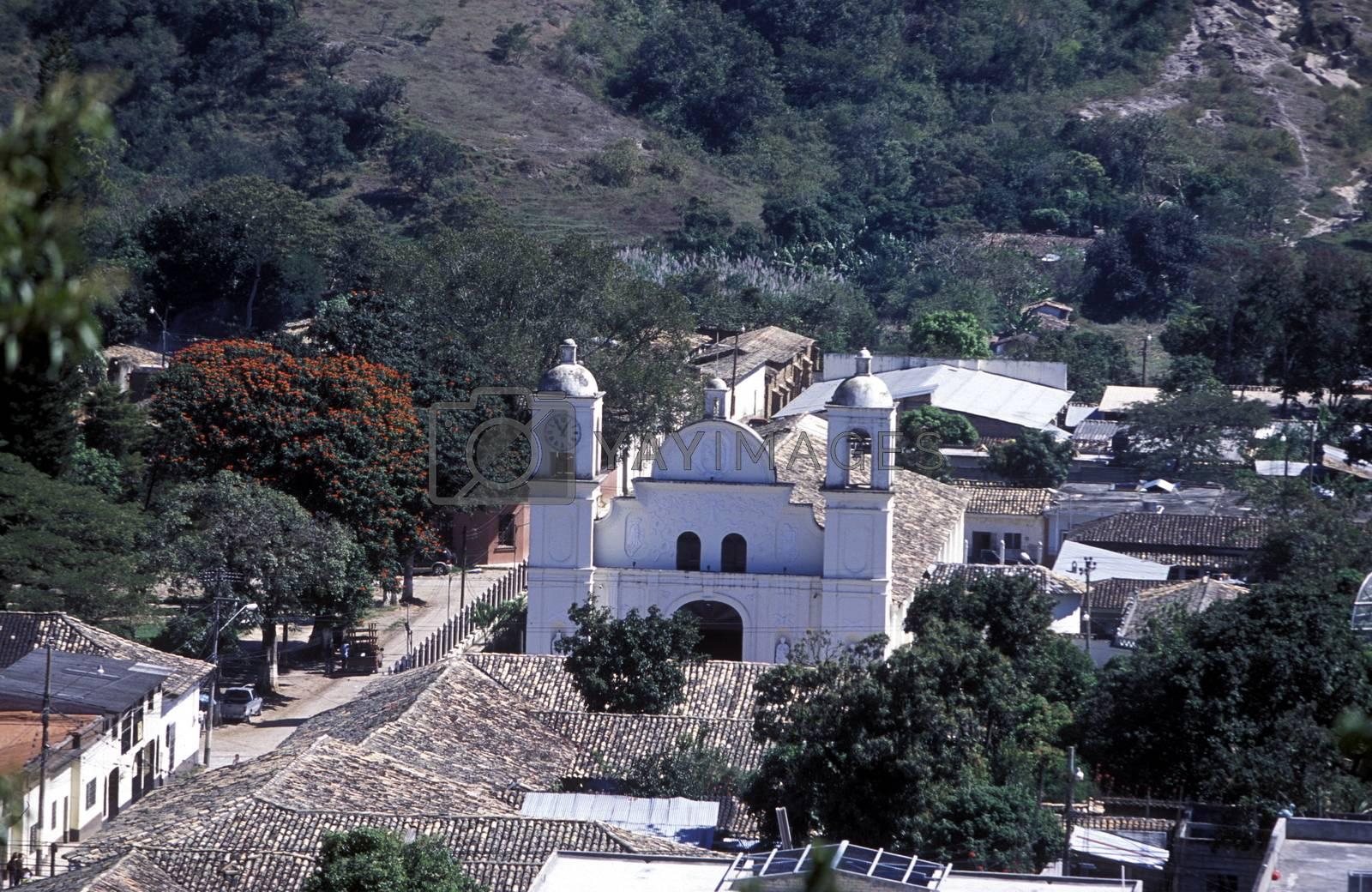 the Village of Gracias in Honduras in Central America,