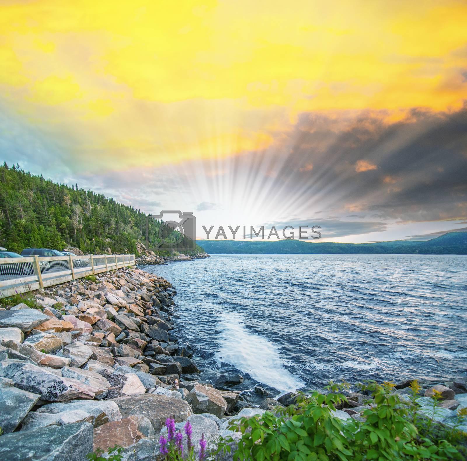 Coast of Quebec, Canada by jovannig