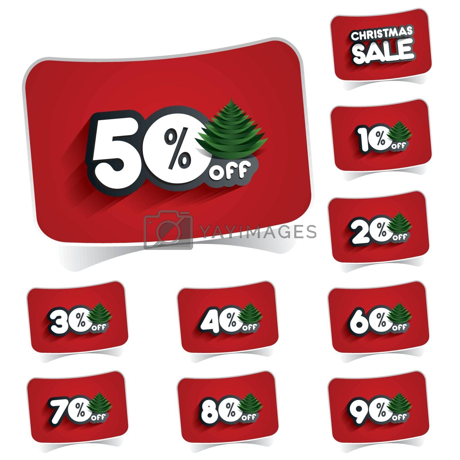 Christmas Sale Design On Background vector illustration