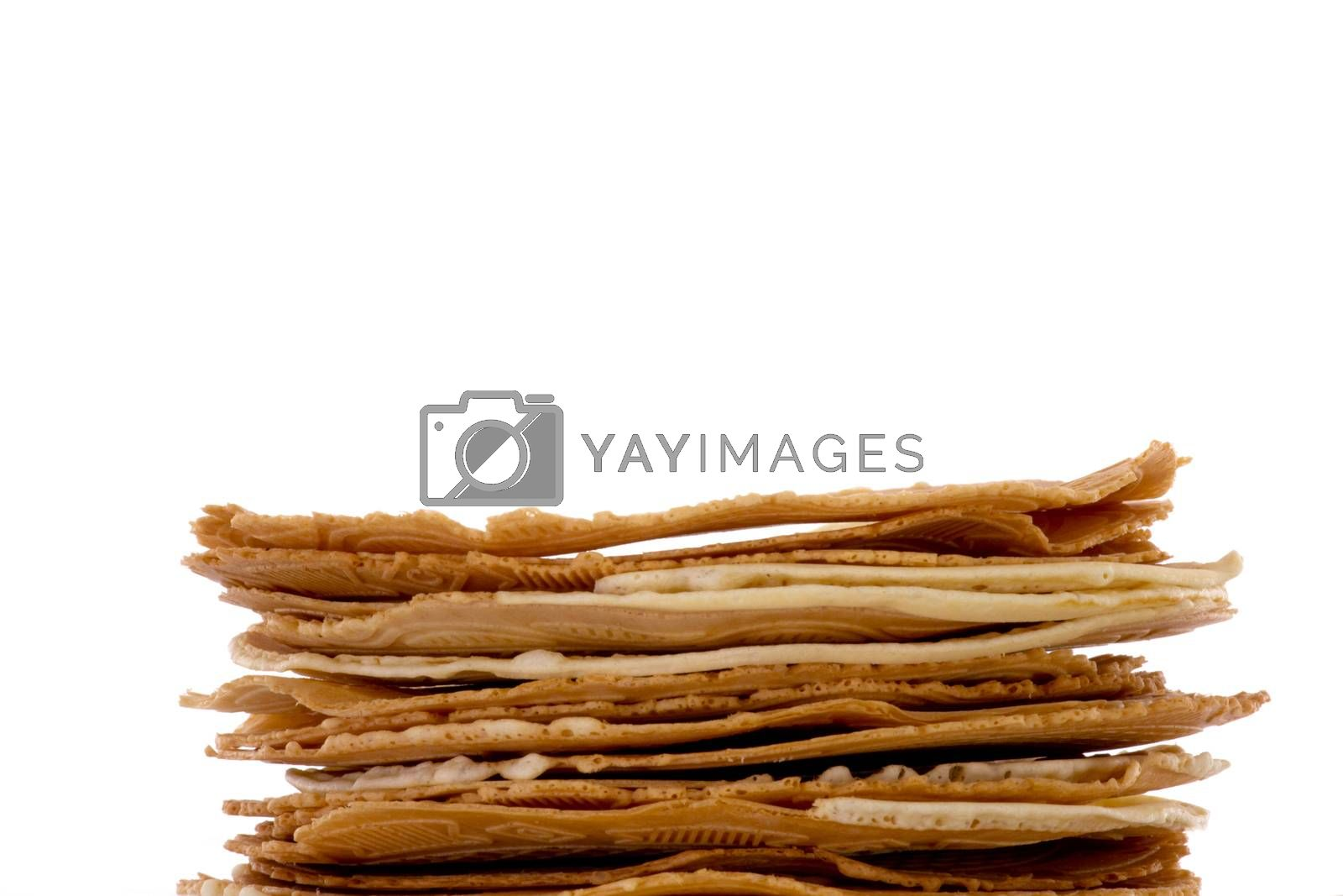 Fresh baked krumkakes