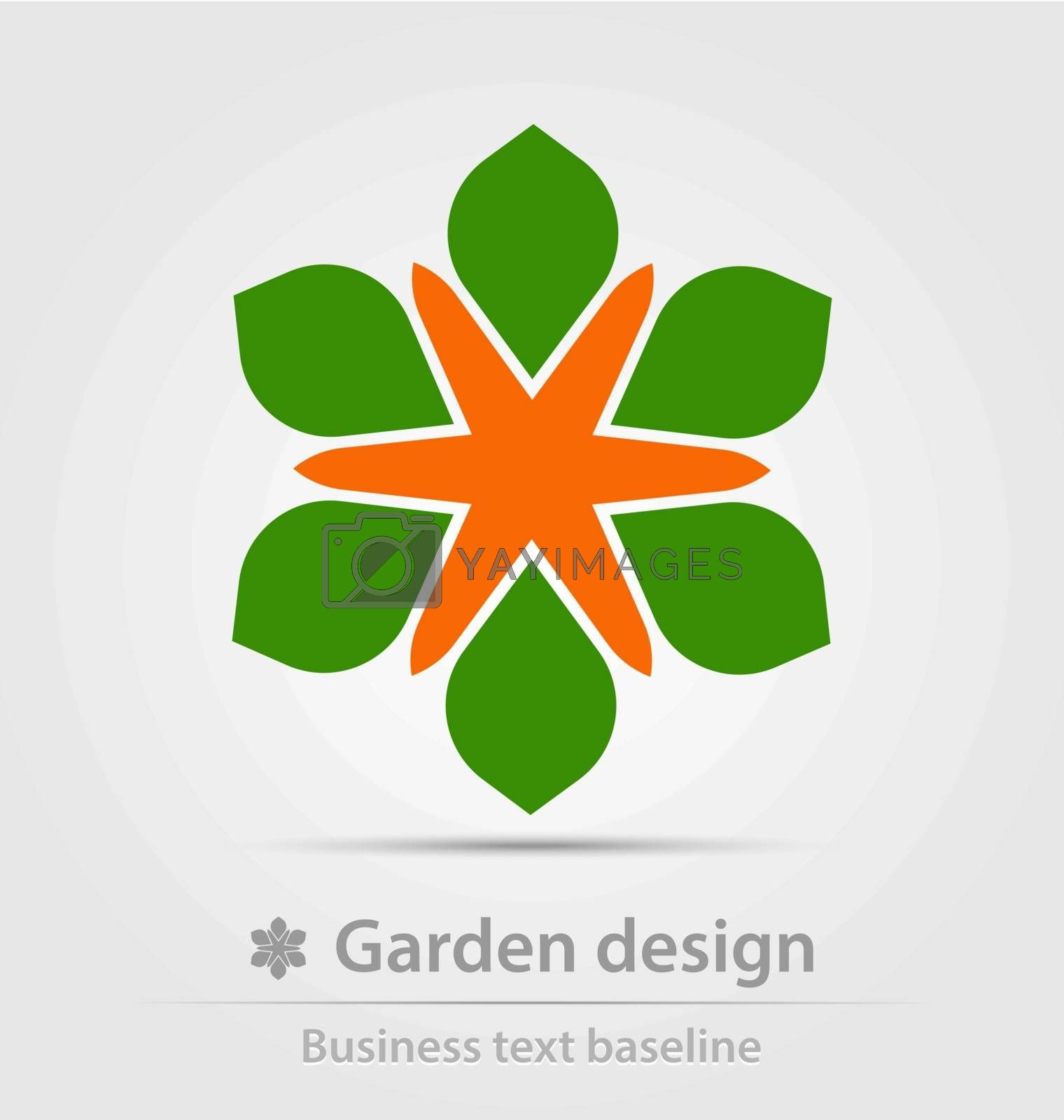 Garden design business icon for creative design work