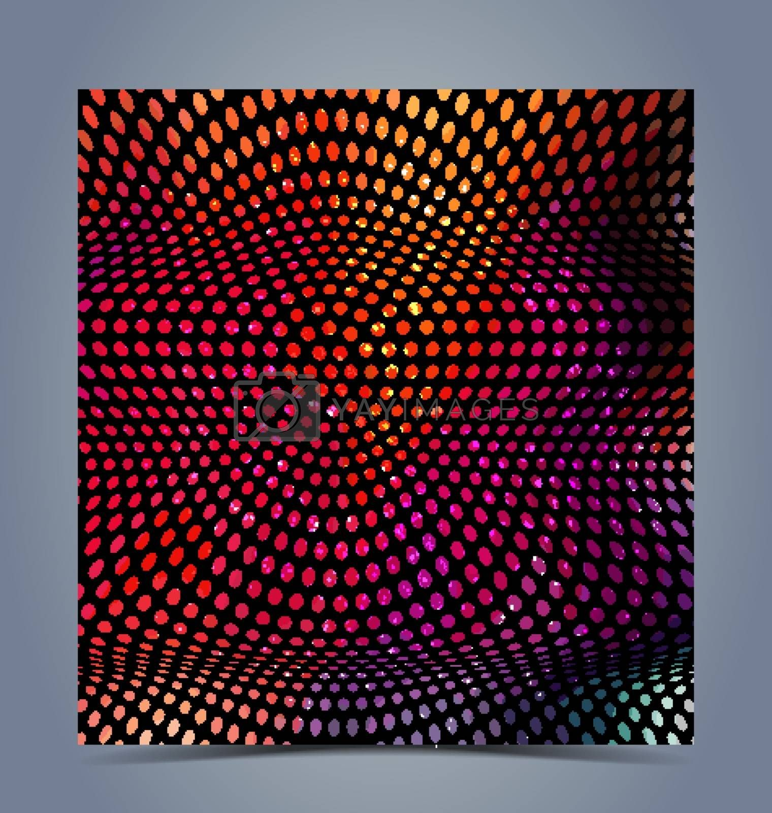 Abstract halftone colorful background for creative design work