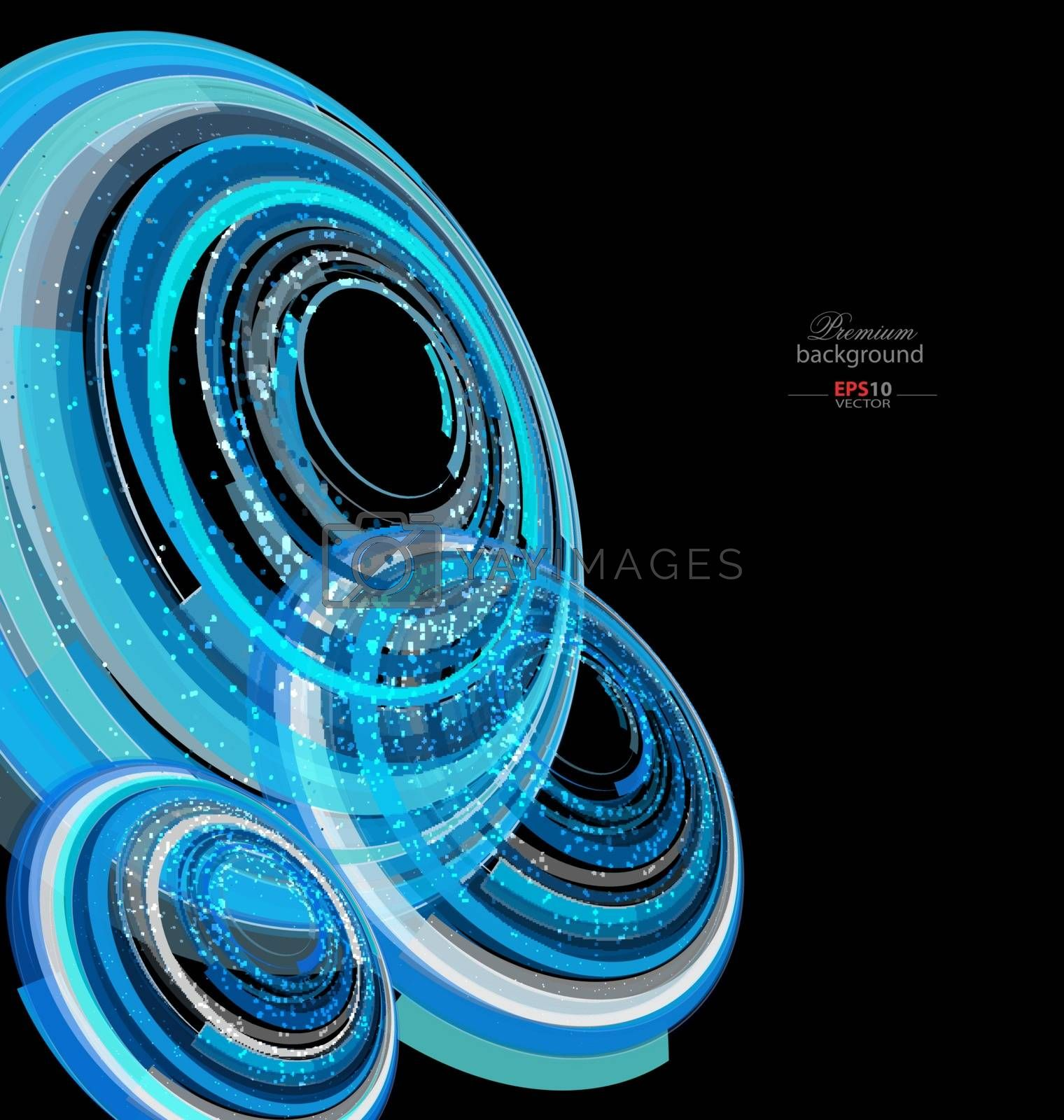 Colorful abstract technology background for creative design tasks