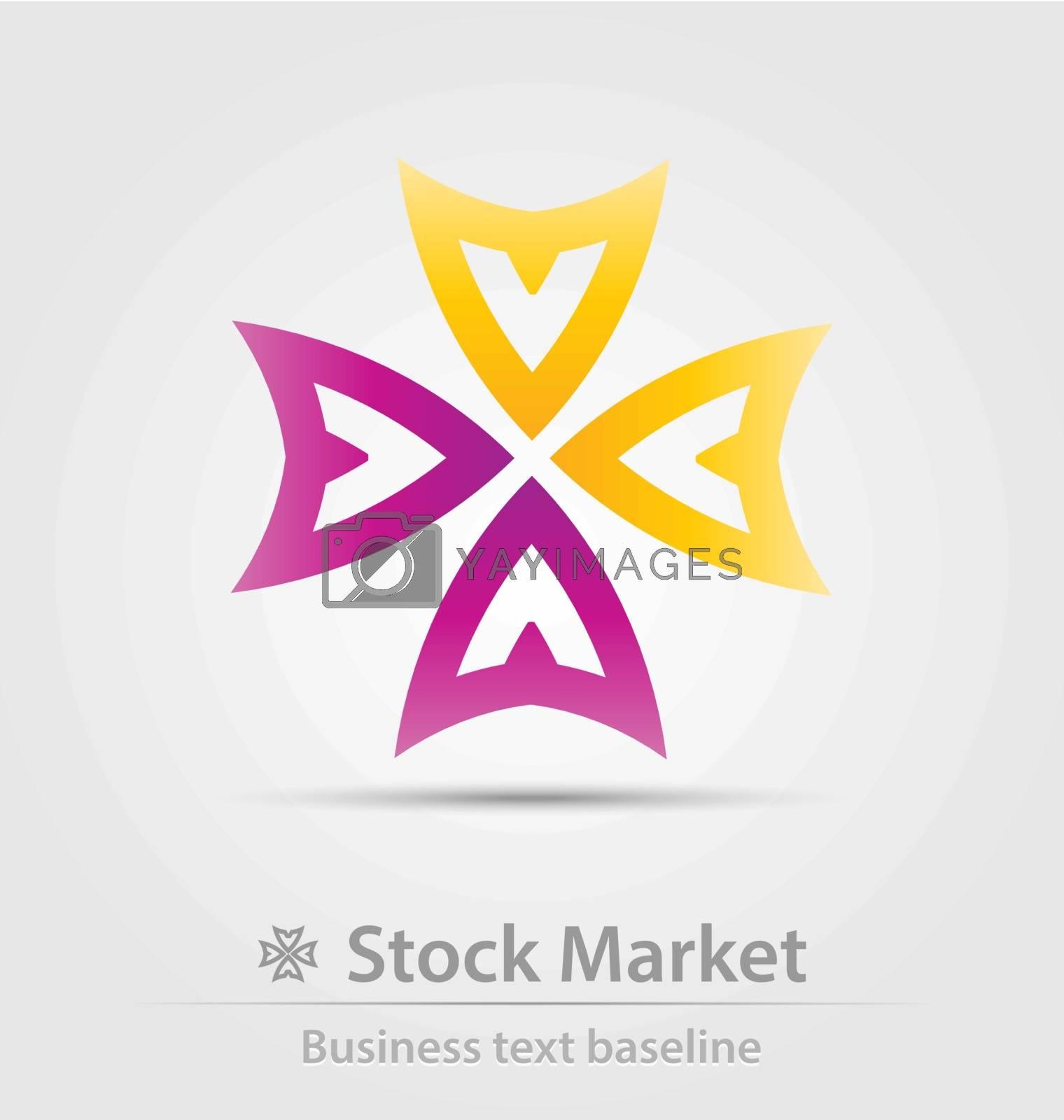 Stock market business icon for creative design