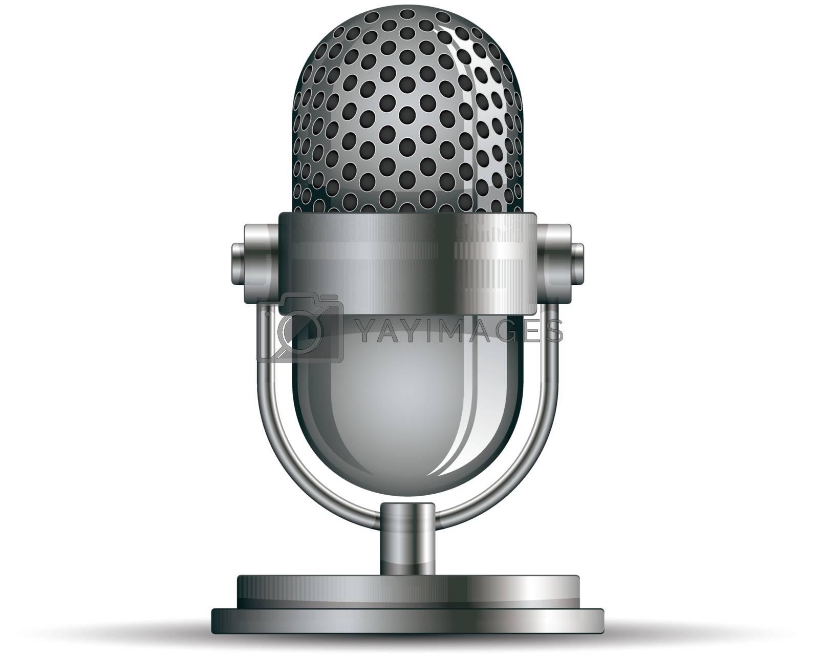 Microphone icon, vector illustration.
