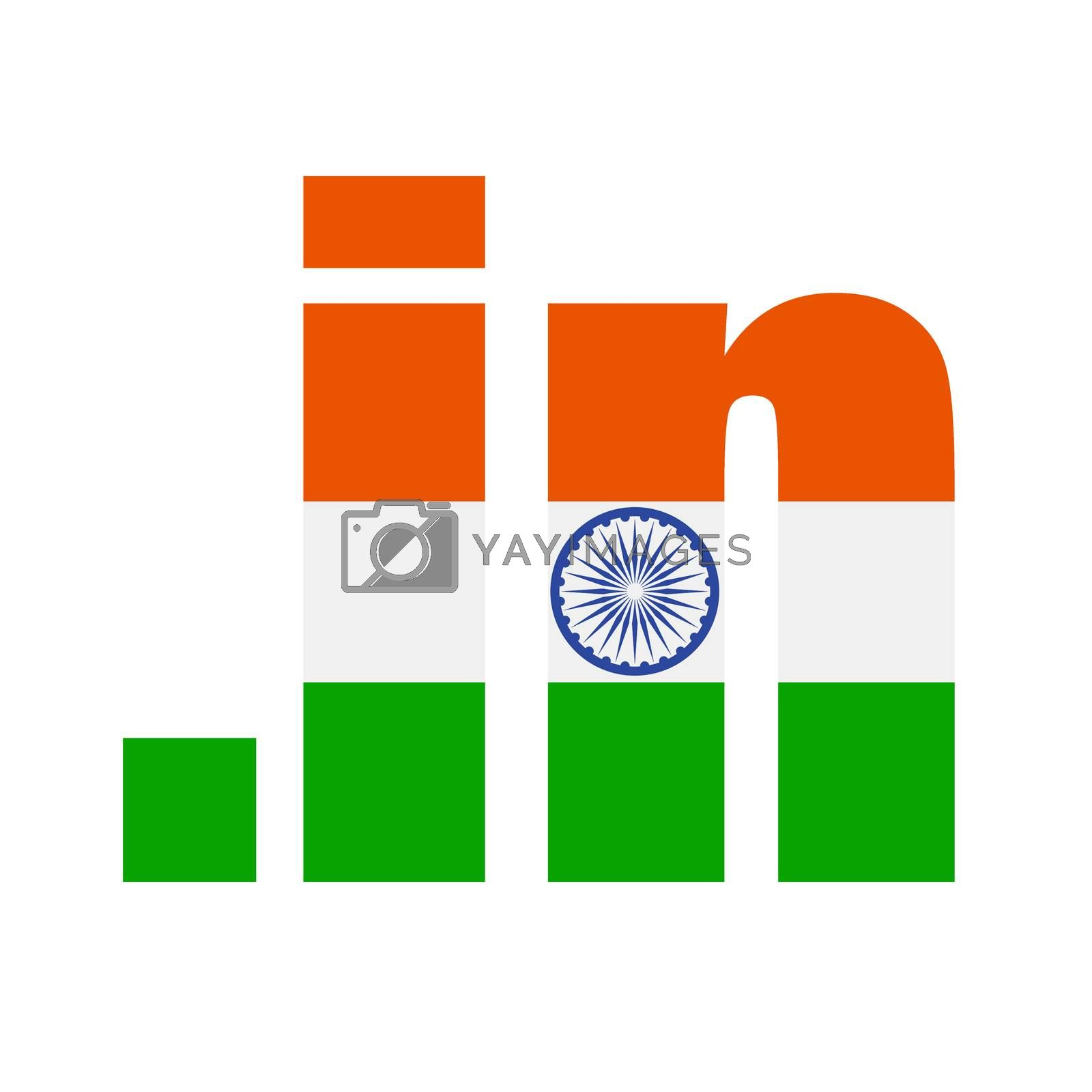 .in domain registry logo meant for registrations of Indian domains