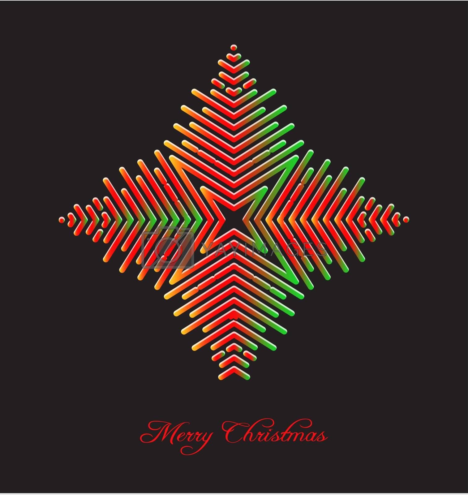 Elegant christmas background with abstract snowflake embellishment foe creative design