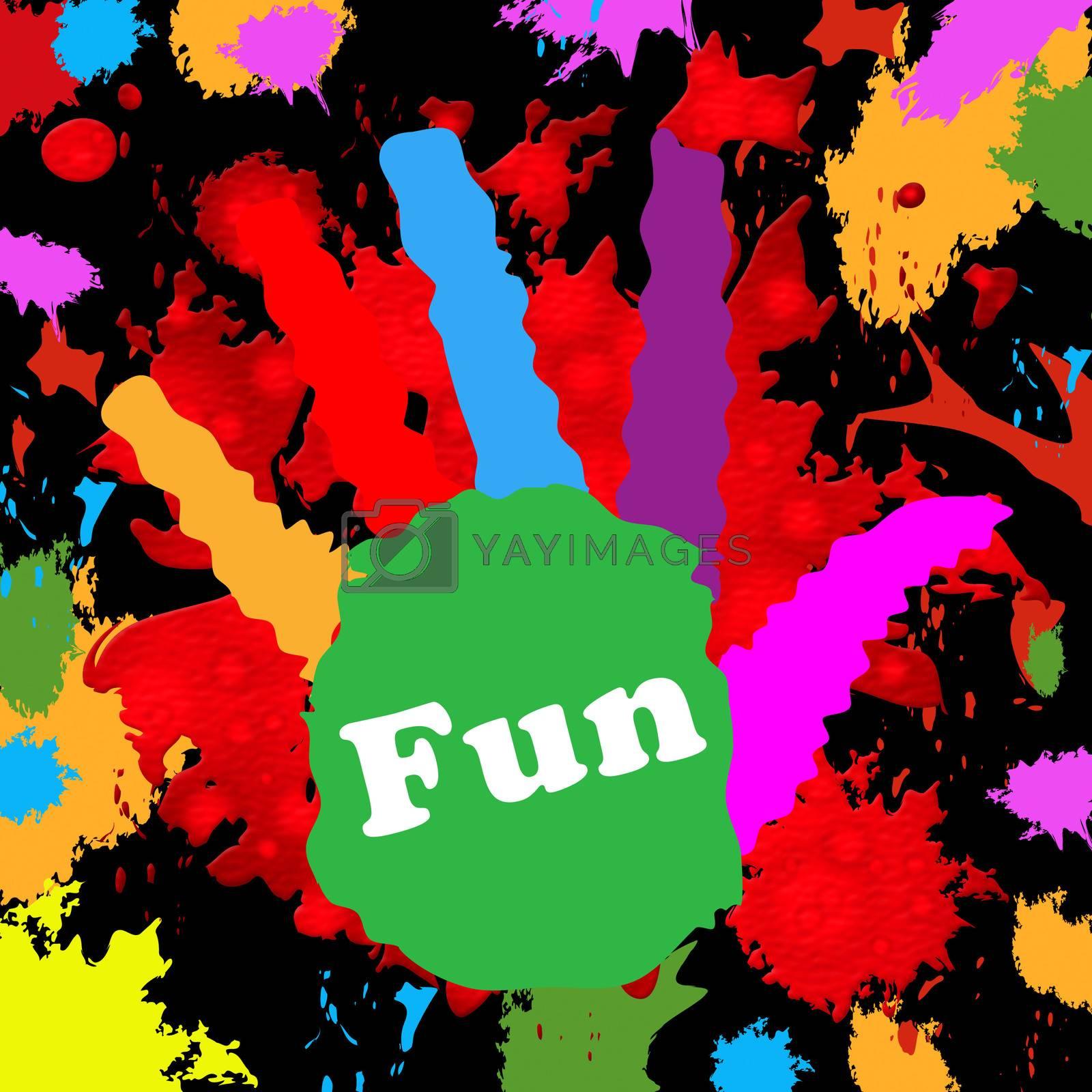 Kids Fun Representing Watercolor Spectrum And Artwork