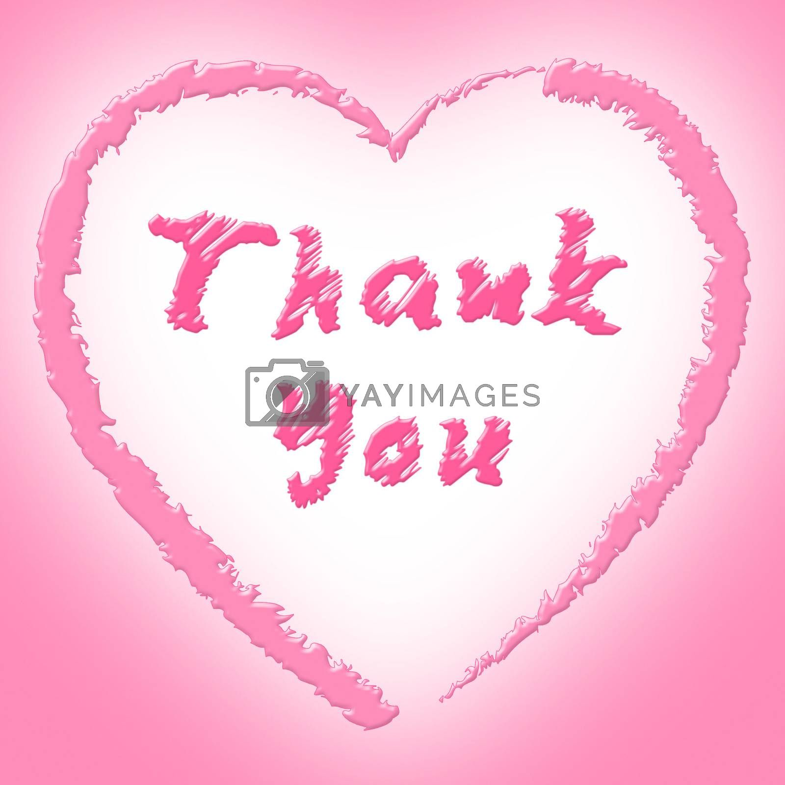 Thank You Representing Heart Shapes And Gratefulness
