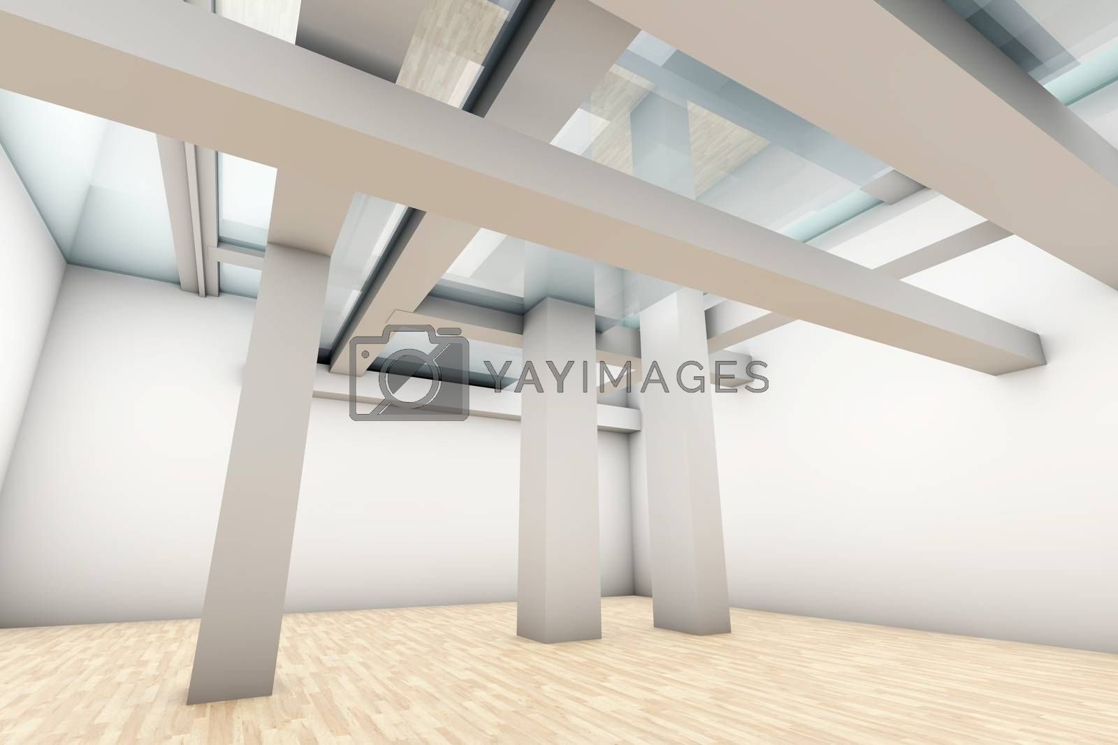 A modern architecture Interior. 3D rendered Illustration.