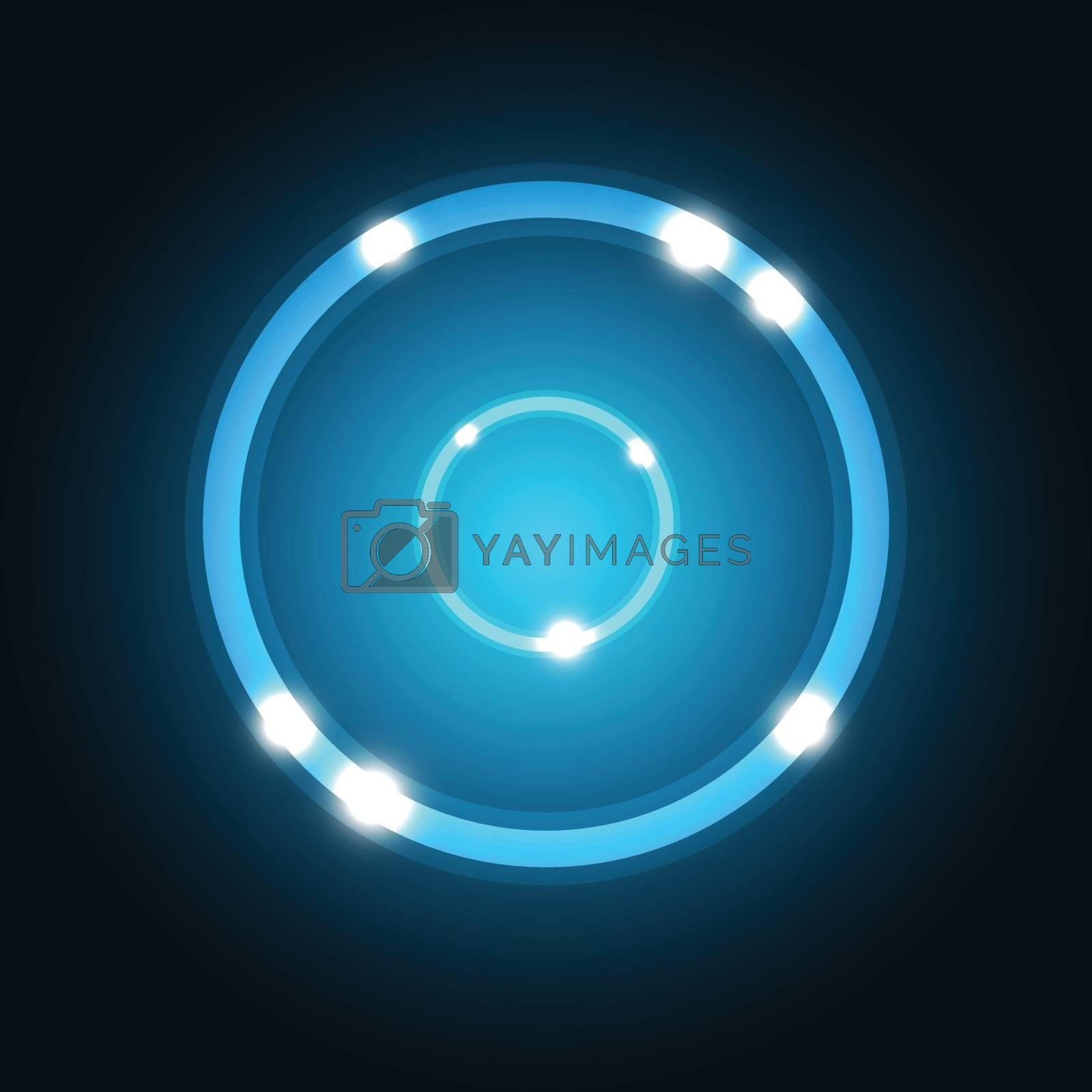 Abstract background with blue circle, stock vector