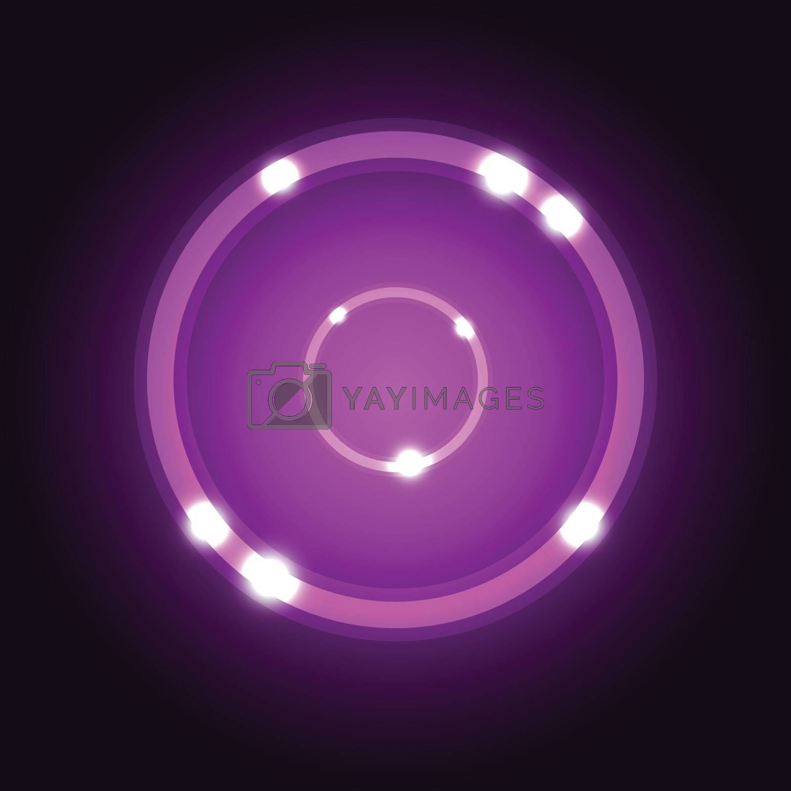 Abstract background with violet circle stock vector