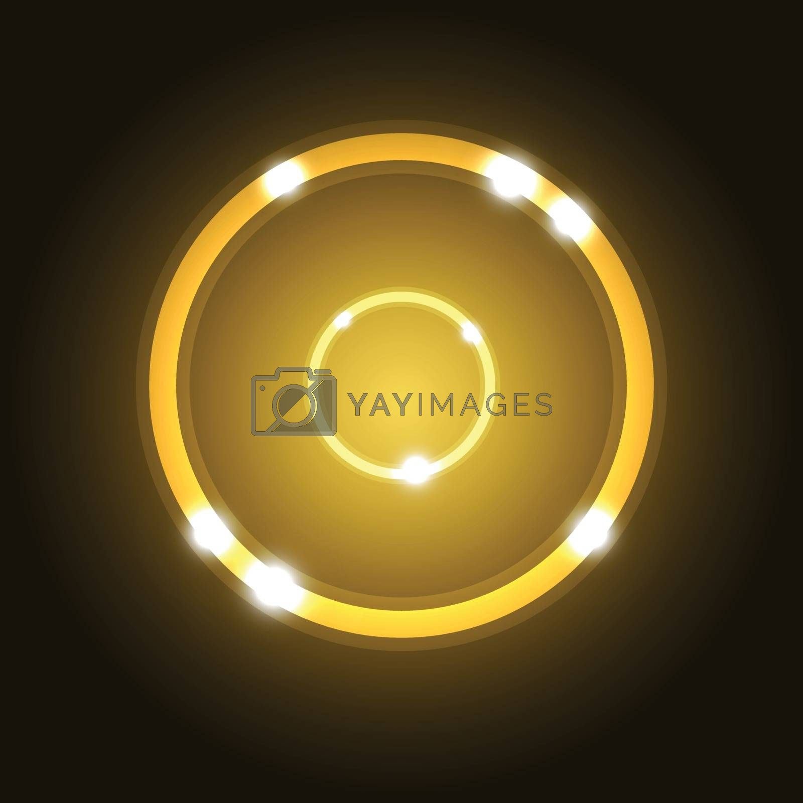 Abstract background with gold circle, stock vector