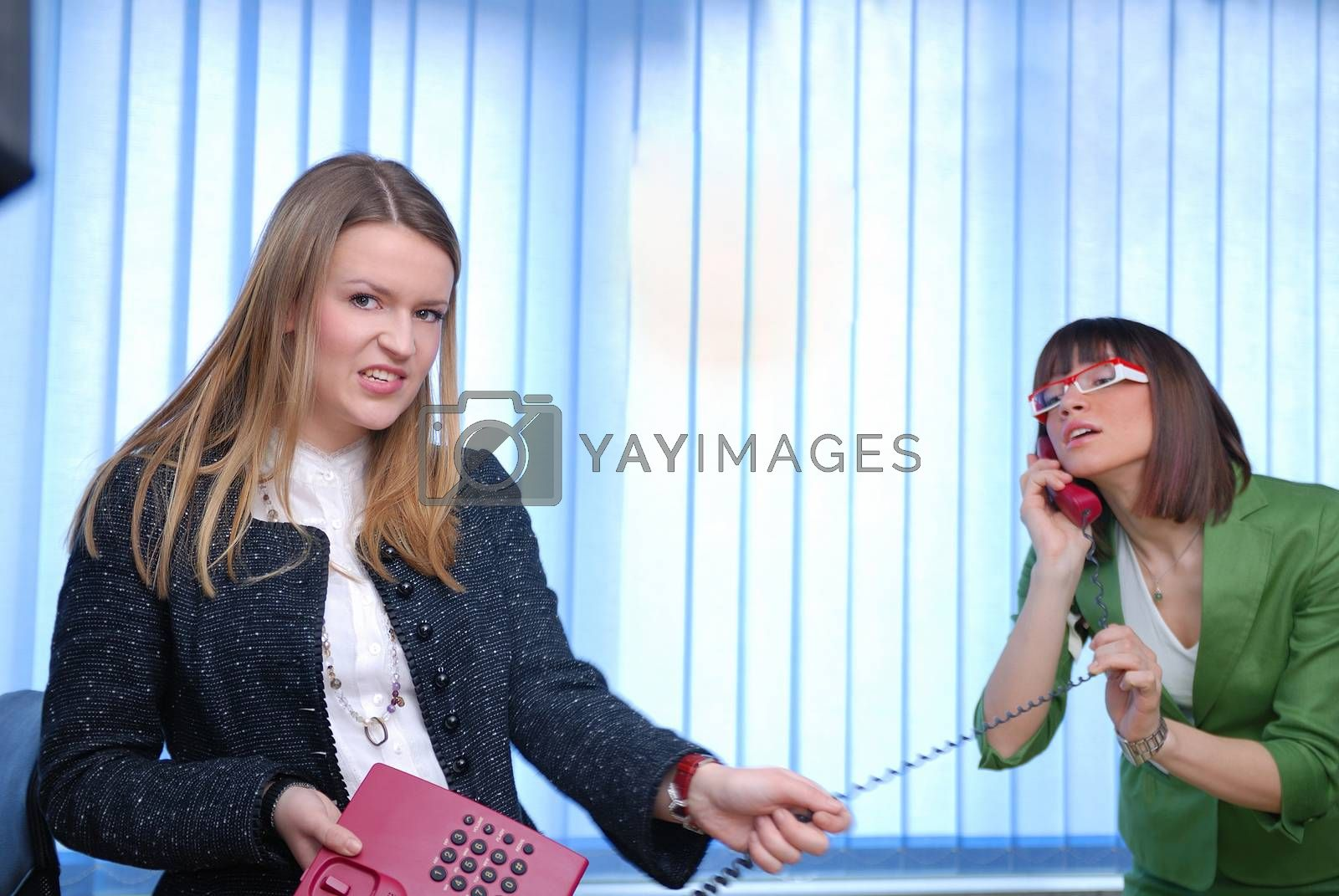 Royalty free image of wired communication by .shock