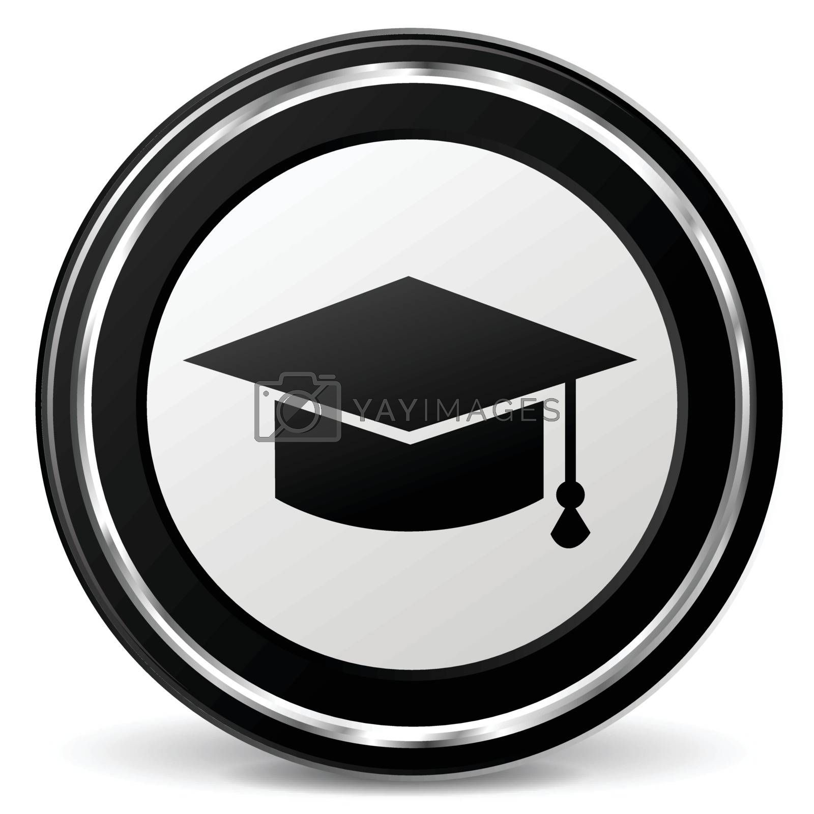 Illustration of education icon on white background