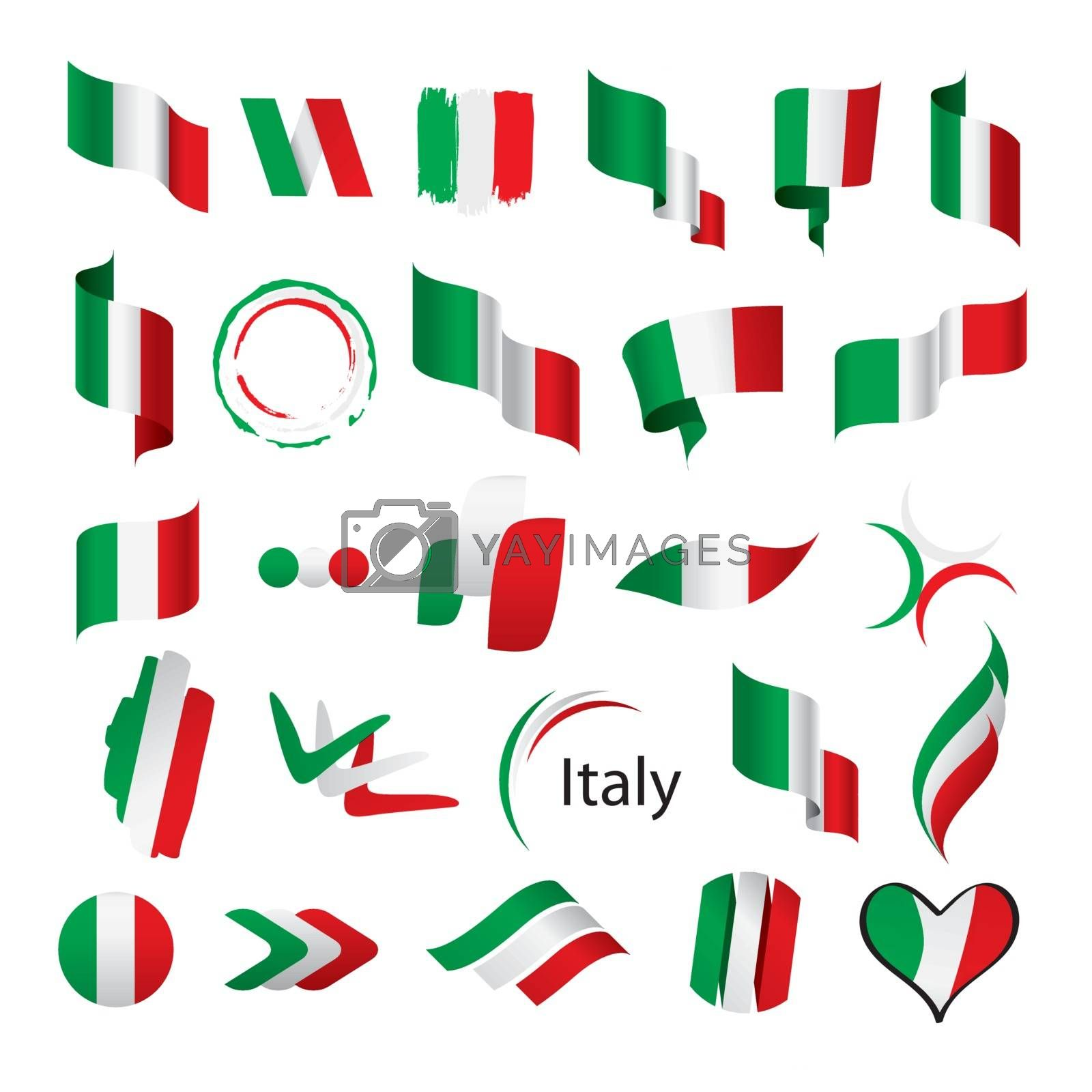 biggest collection of vector flags of Italy