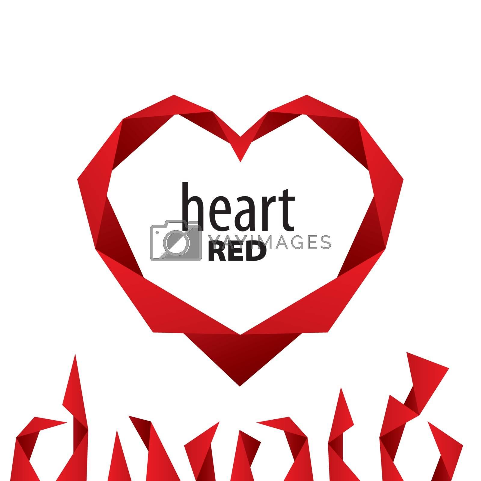logo heart from red ribbon