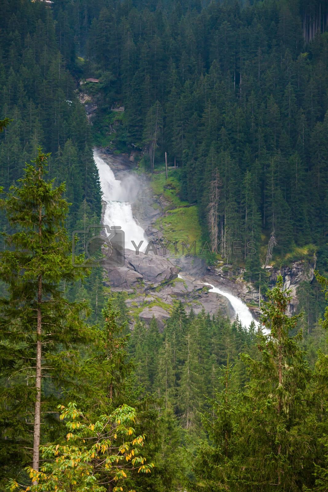 Krimmler Watterfall on Austrian Alps by PixAchi