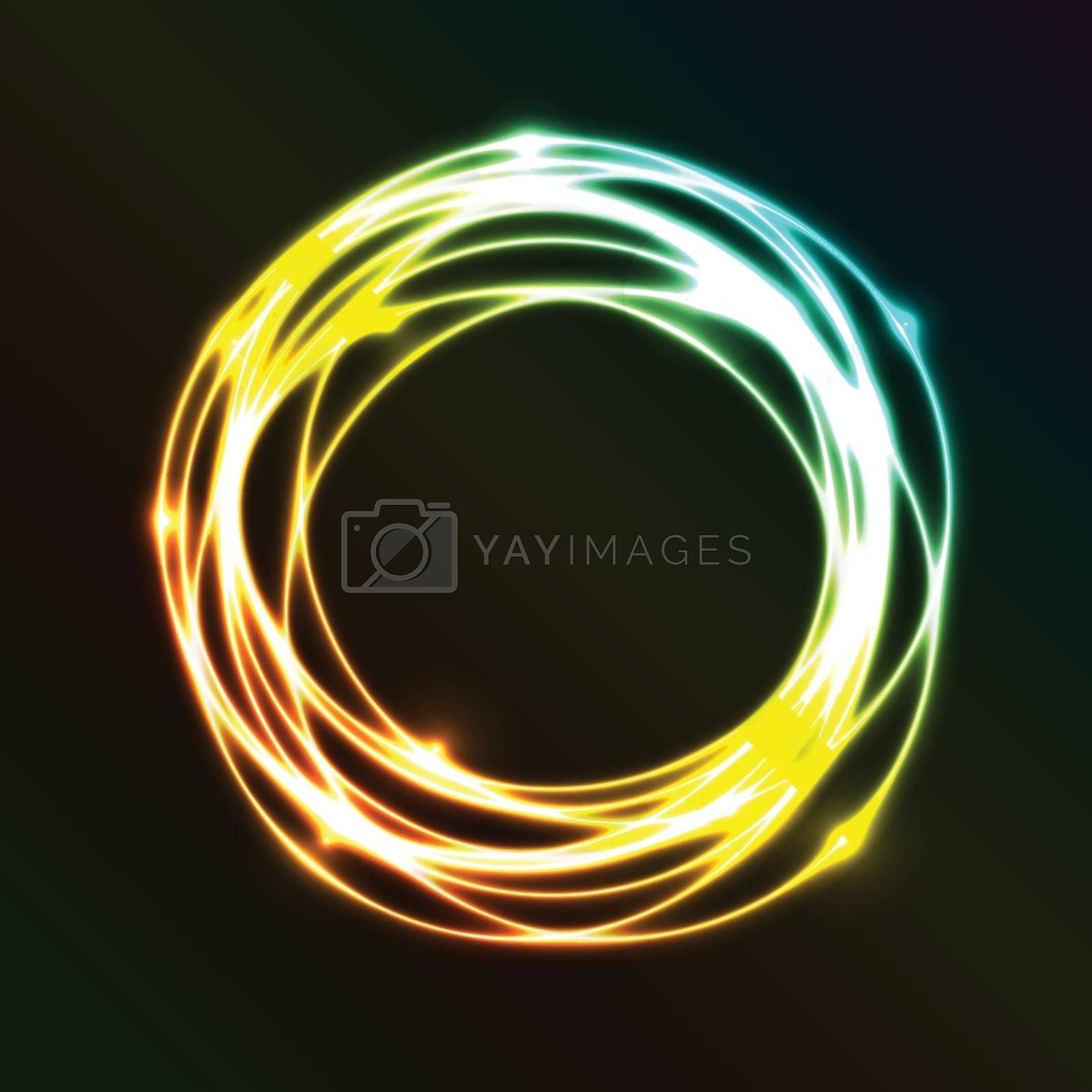 Abstract background with colorful plasma circle effect, stock vector
