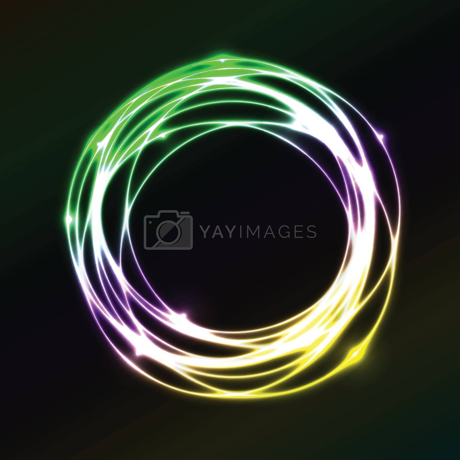 Colorful plasma circle effect  background , stock vector